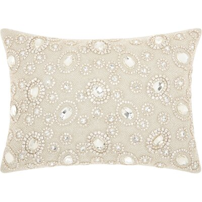 Gemstone Lumbar Pillow Color: Silver