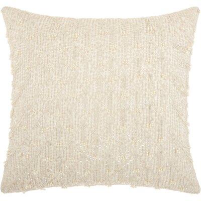Gemstone Silk Throw Pillow Color: White