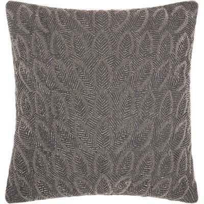 Sharonda Geometric Square Throw Pillow Color: Pewter