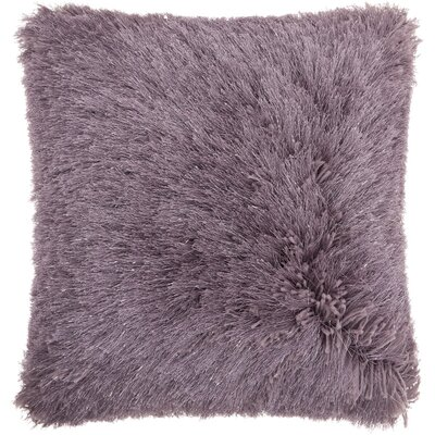 Andrewson Shag Throw Pillow Color: Lavender