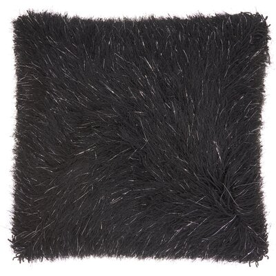 Andrewson Shag Throw Pillow Color: Black