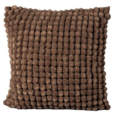 Oakfield 100% Cotton Throw Pillow Color: Brown