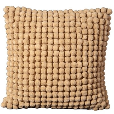 Janik Pom Pom 100% Cotton Throw Pillow Color: Caramel