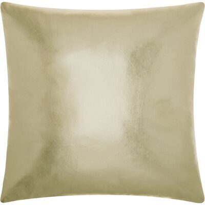 Couture Leather Throw Pillow Color: Light Gold