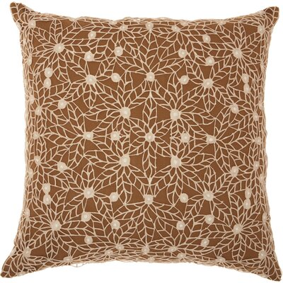Castalia Throw Pillow Color: Brown