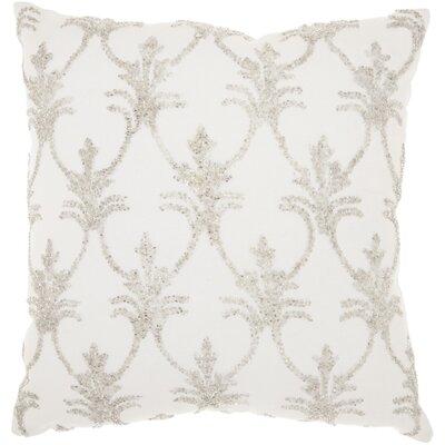 Hutcherson 100% Cotton Throw Pillow Color: Silver