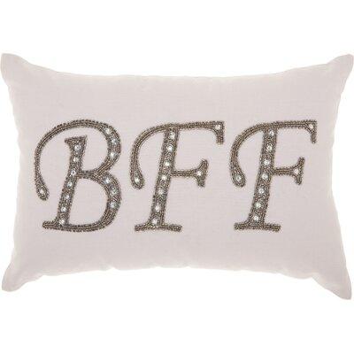 Elsa 100% Cotton Lumbar Pillow Color: Silver/Gray