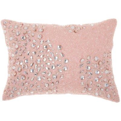 Hertzog Beaded All Over Lumbar Pillow Color: Rose