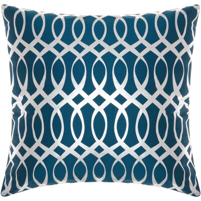 Elsa Throw Pillow Color: Teal/Silver