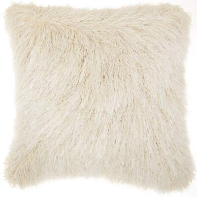 Balham Shag Throw Pillow Color: Cream