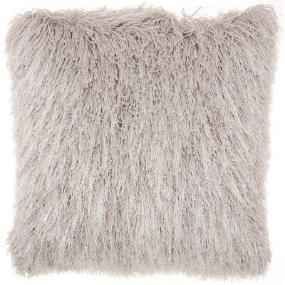 Bowyer Shag Throw Pillow Color: Gray