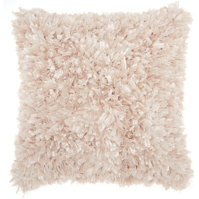 Katia Shag Throw Pillow Color: Light Beige