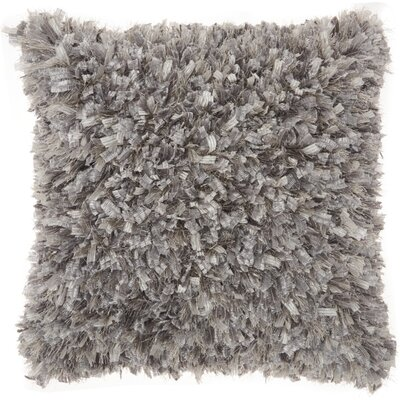 Katia Shag Throw Pillow Color: Pewter