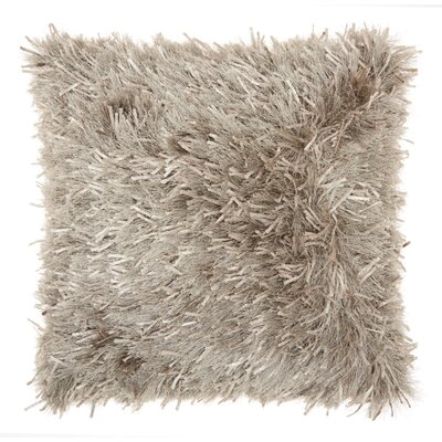 Bismouth Shag Throw Pillow Color: Champagne