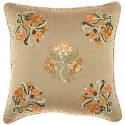 Caresse Silk Embroidery 100% Silk Throw Pillow