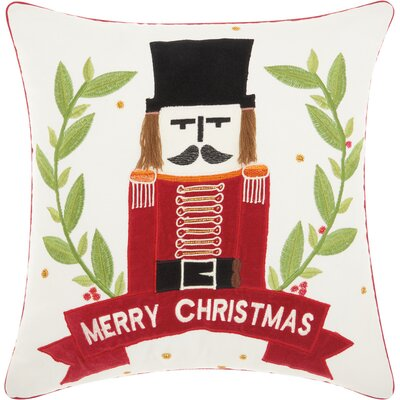 Home for the Holidays Cotton Throw Pillow