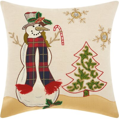 Home for the Holidays Square Throw Pillow