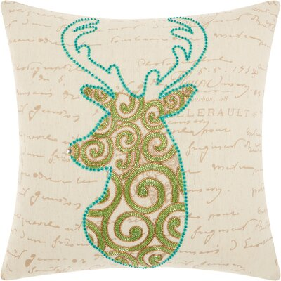 Home for the Holidays Linen Throw Pillow
