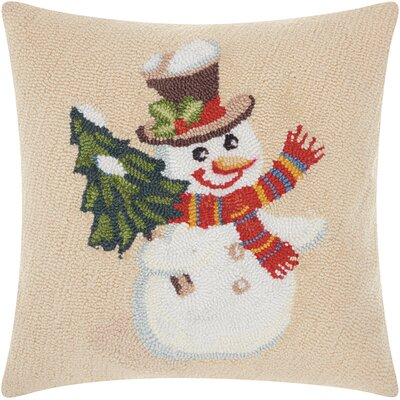 Home for the Holidays Snowman Throw Pillow