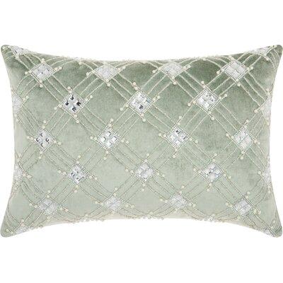 Benalla Velvet Lumbar Pillow Color: Celadon