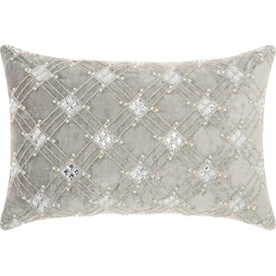 Benalla Velvet Lumbar Pillow Color: Gray