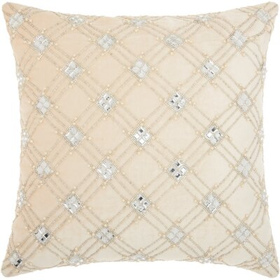 Benalla Velvet Throw Pillow Color: Ivory