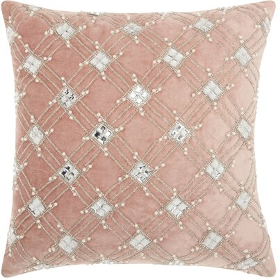 Benalla Velvet Throw Pillow Color: Rose