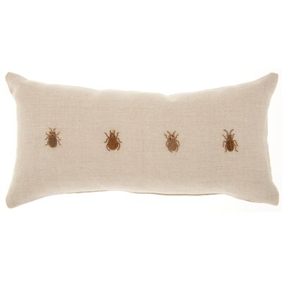 Adriana Rectangular Linen Lumbar Pillow
