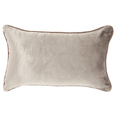 Champaign Rectangular Velvet Lumbar Pillow