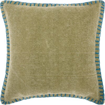 Hegewisch Mercury Cotton Throw Pillow Color: Green