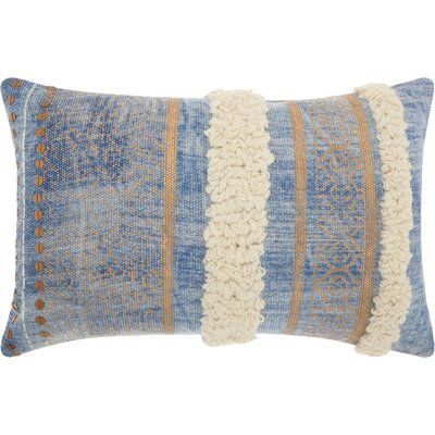 Mika Contemporary Cotton Lumbar Pillow