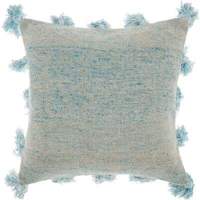 Mika Cotton Throw Pillow Color: Blue