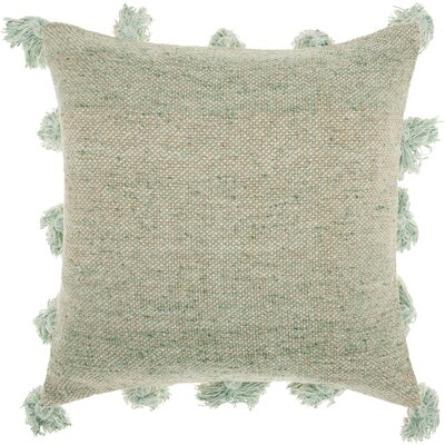 Mika Cotton Throw Pillow Color: Celadon