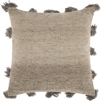 Mika Cotton Throw Pillow Color: Dark Grey