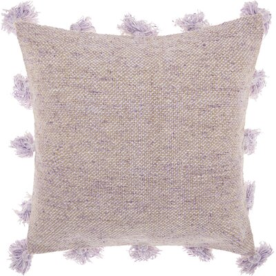 Mika Cotton Throw Pillow Color: Lavender