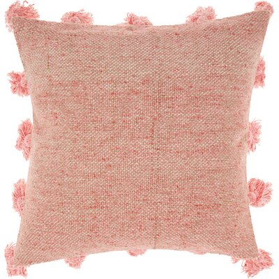 Mika Cotton Throw Pillow Color: Rose