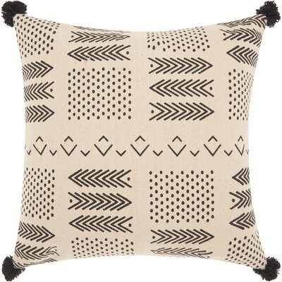 Bethzy Geometric Cotton Throw Pillow