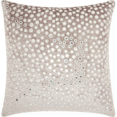 Mika Square Velvet Throw Pillow Color: Gray