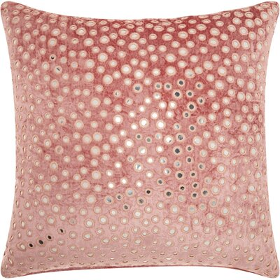 Mika Square Velvet Throw Pillow Color: Rose