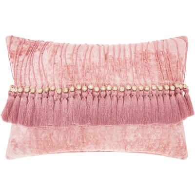 Mika Velvet Lumbar Pillow Color: Rose