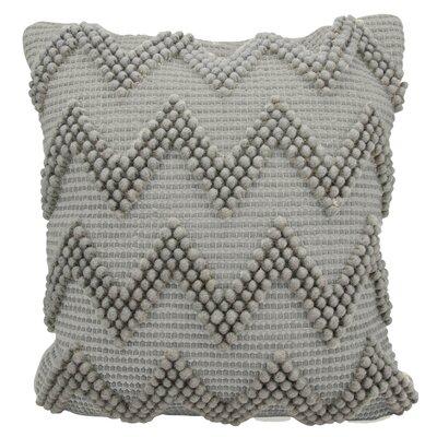 Breuer Throw Pillow Color: Light Gray, Size: 20 H x 20 W