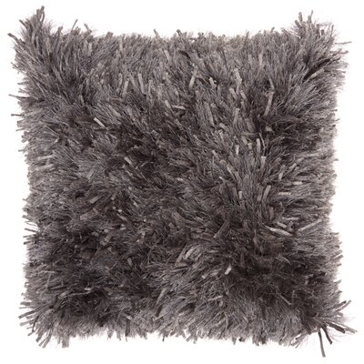 Bismouth Shag Throw Pillow Color: Dark Gray