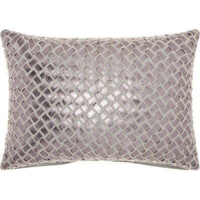 Benetton Cotton Lumbar Pillow Color: Gray/Pewter