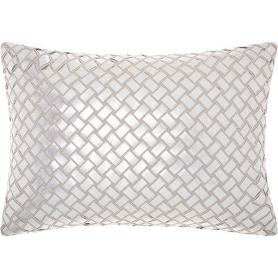 Benetton Cotton Lumbar Pillow Color: Gray/Silver