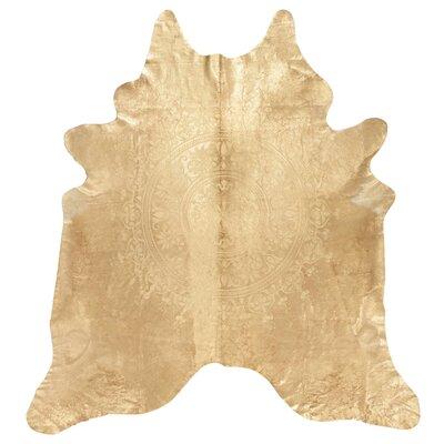 Bretta Leather Gold Area Rug