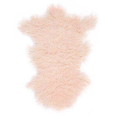 Highbury Sheepskin Rose Area Rug