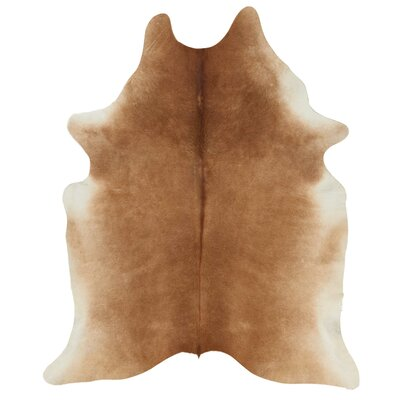 Guymon Leather Brown Area Rug
