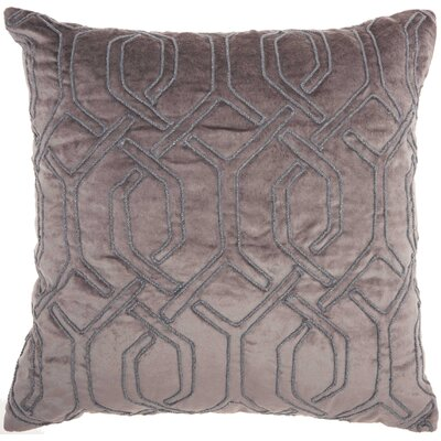 Tadashi Square Velvet Throw Pillow Color: Dark Gray