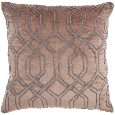 Tadashi Square Velvet Throw Pillow Color: Nude