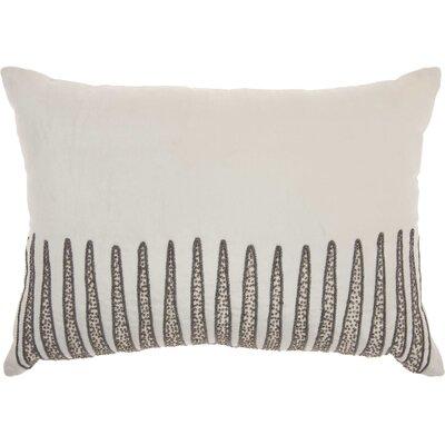 Tadashi Rectangular Velvet Lumbar Pillow Color: Cream